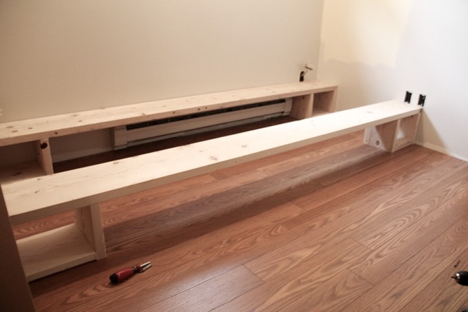 Platform for Ikea Shelves and Daybed