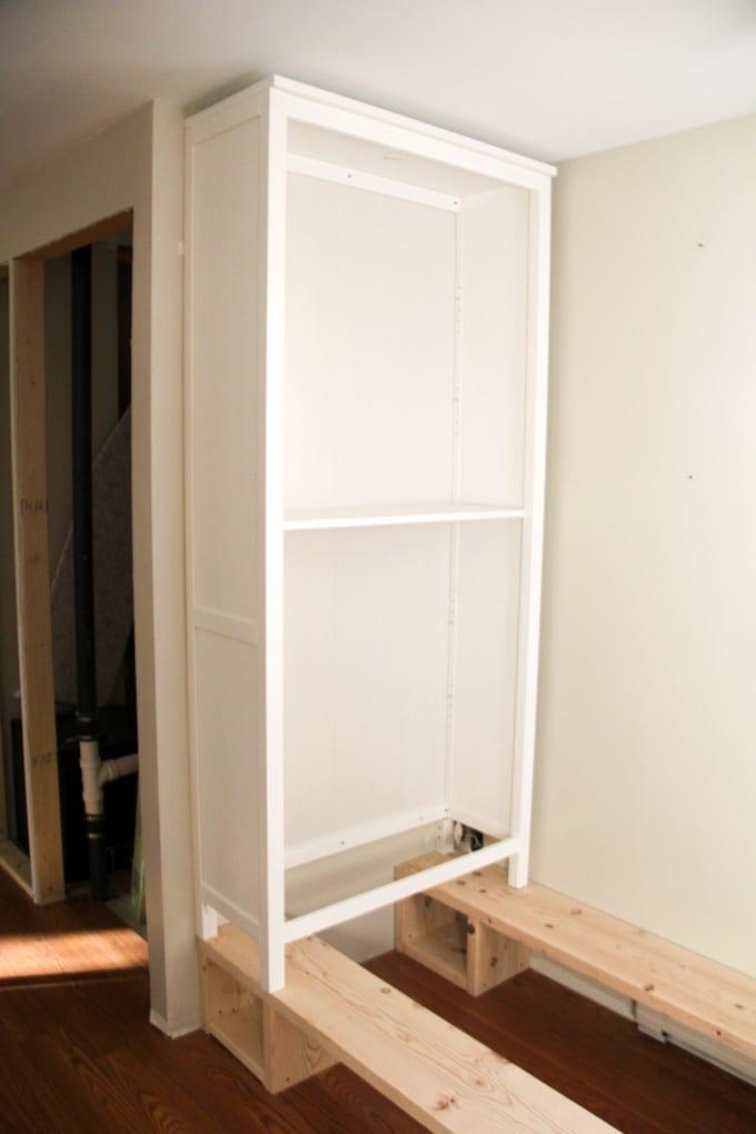 How To Diy Ikea Built Ins Bright Green Door