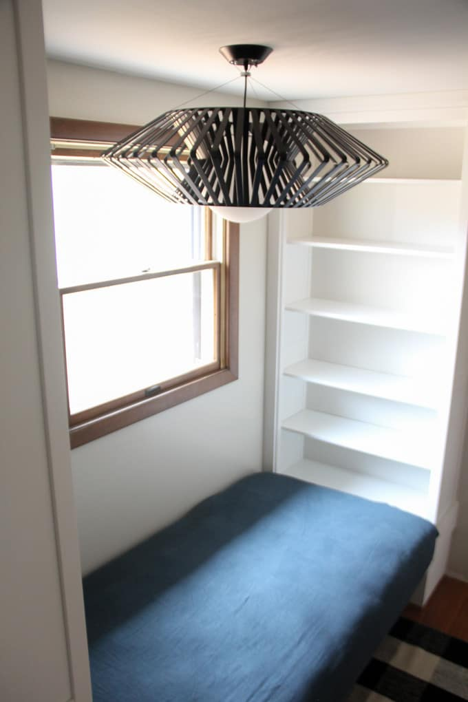 modern light fixture for our reading nook