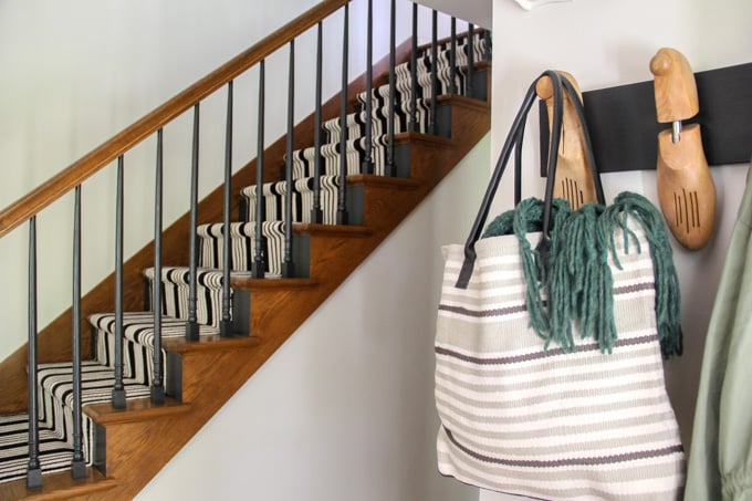 Annie Selke bag and Painted Stairs