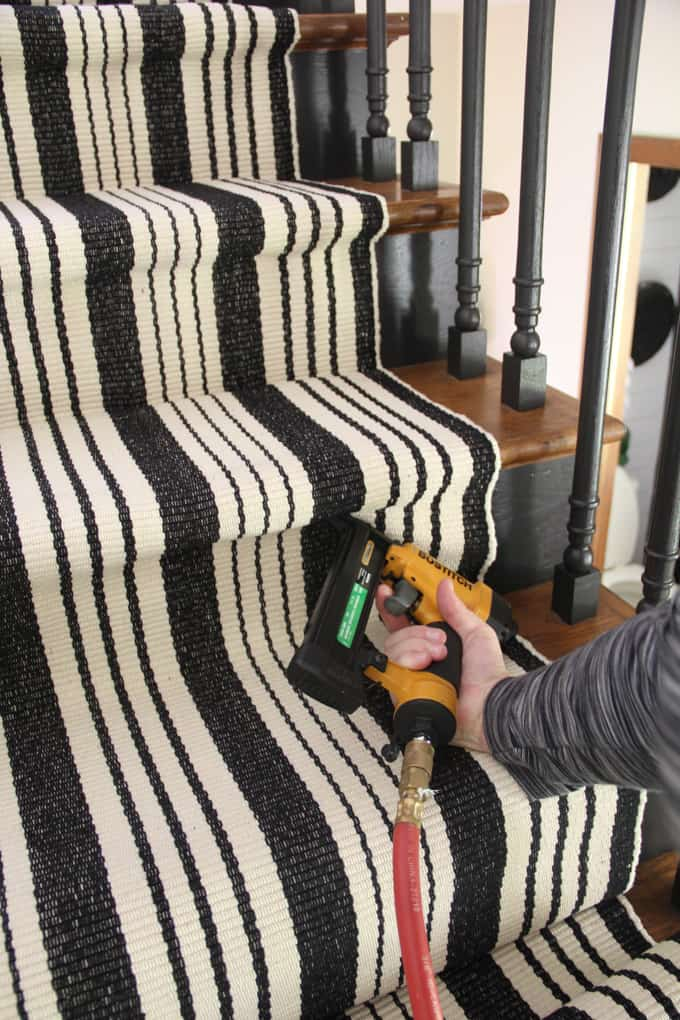 Adding a Rug to Stairs