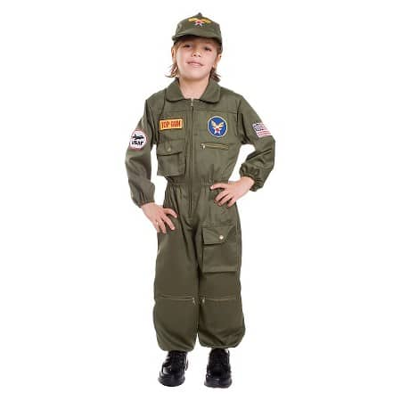Non-Scary Costume Air Force Pilot