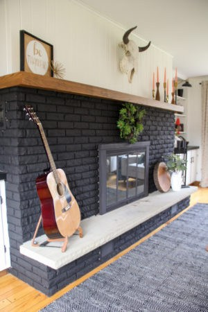 Our Black Painted Fireplace