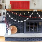 Black Brick Fireplace at Christmas