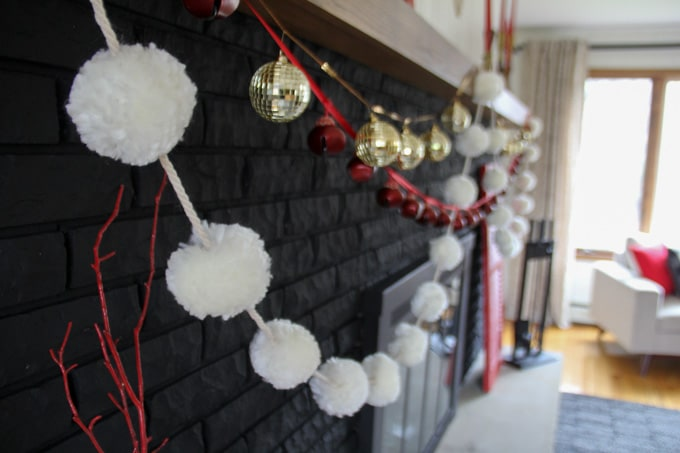 Mantel with garlands