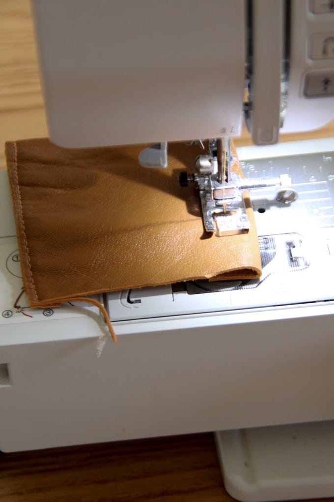 How to Sew on Leather