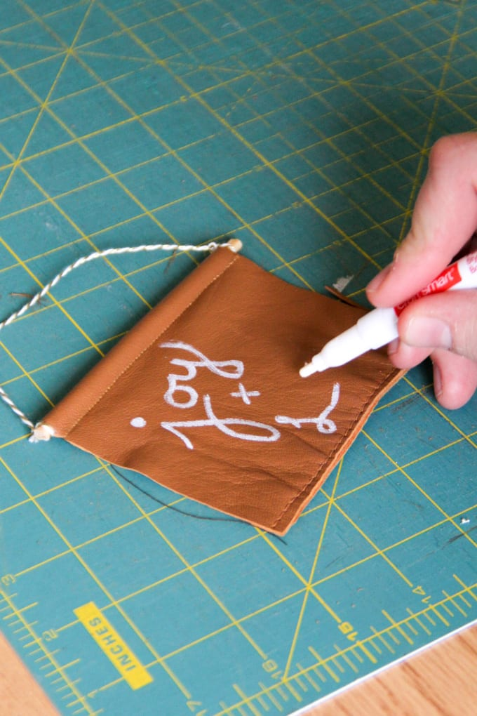 Hand Lettering on Leather