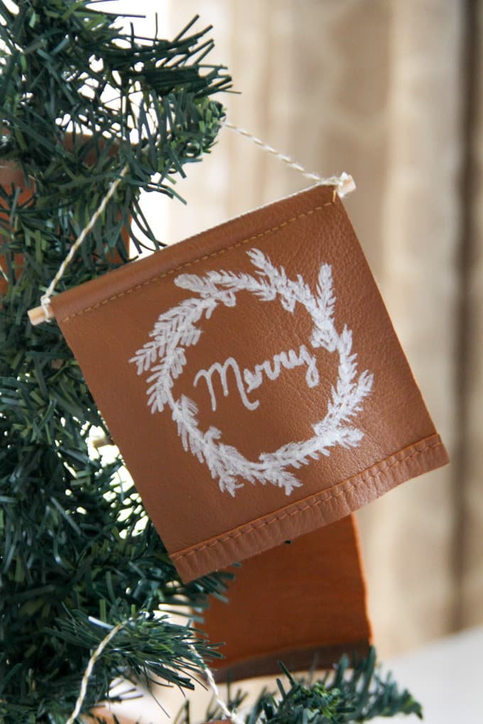 How to Make a Leather Banner Ornament