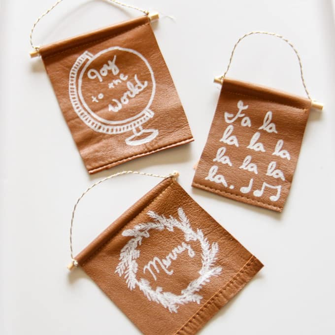 Leather Banner Ornament