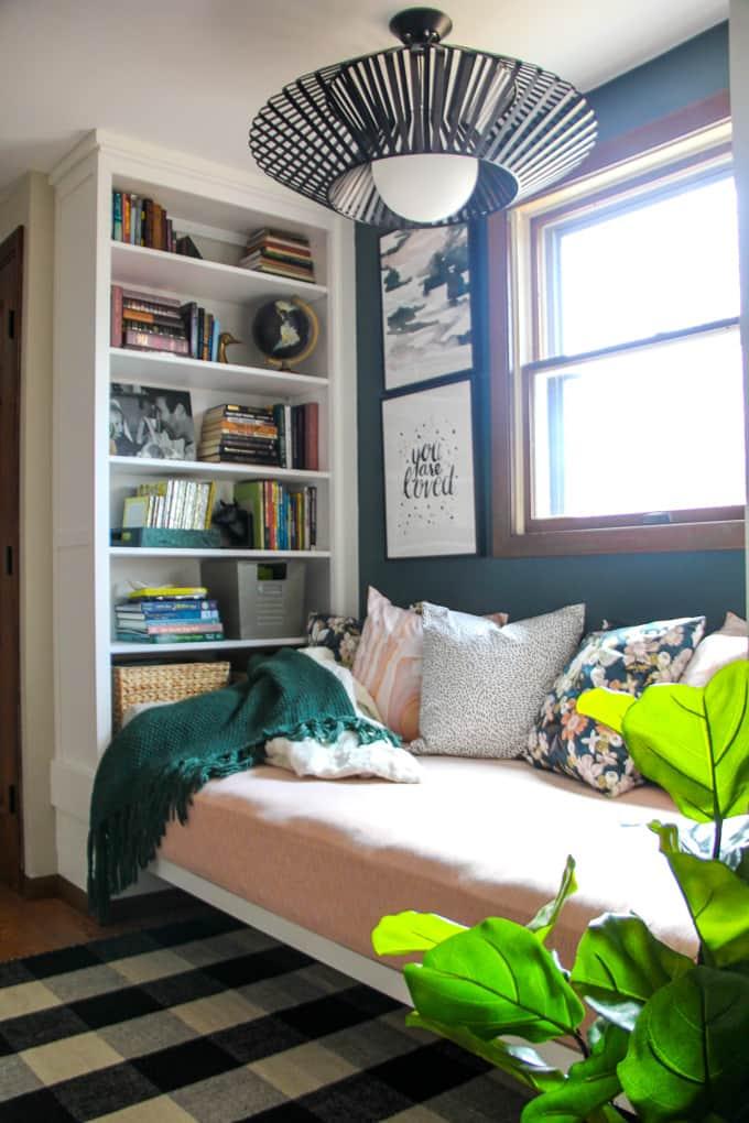 Built in Bookshelf from Ikea Hemnes