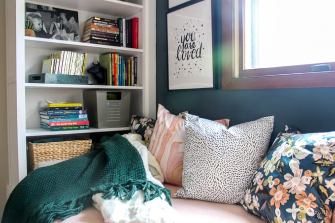 Minted Pillows in Reading Daybed
