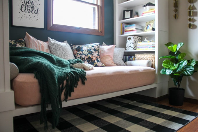 Ikea Shelving for Built in Daybed
