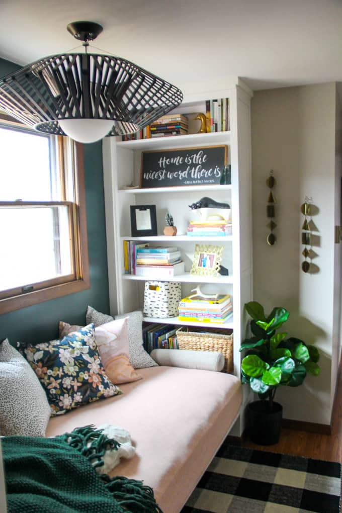 Ikea Hemnes Bookshelves for Built in Daybed