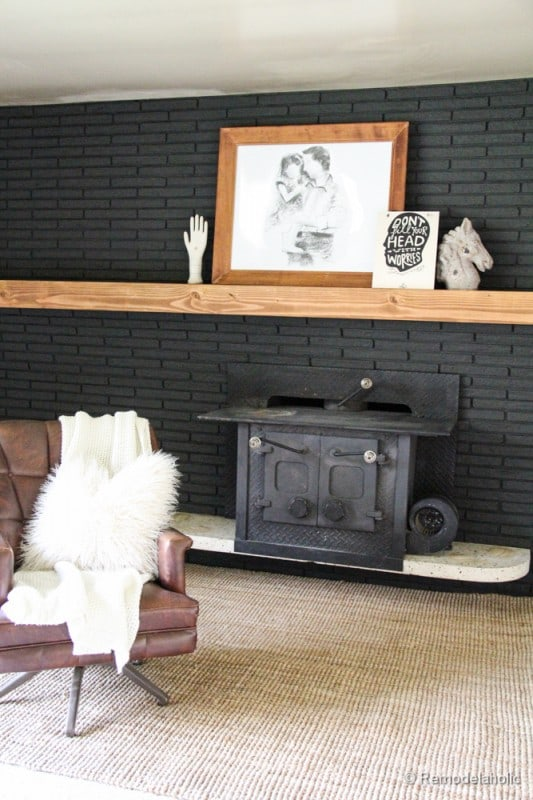 Black Brick Fireplace