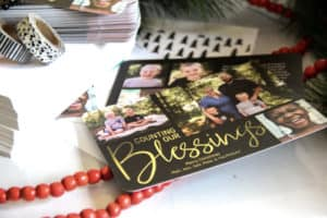 Personalized Foil Christmas Card