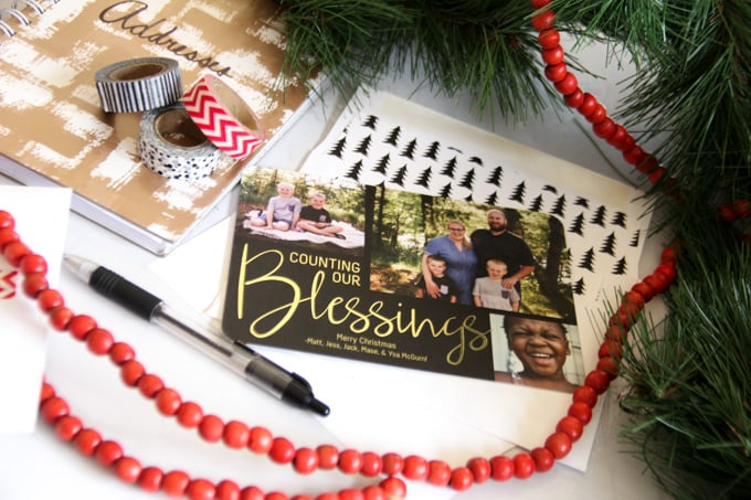 Counting Our Blessings Christmas Card