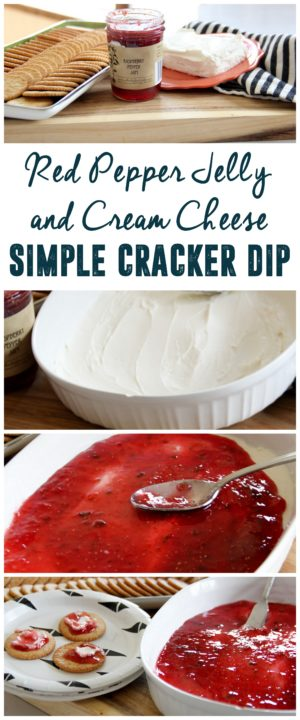 Simple Pepper Jelly and Cream Cheese Cracker Dip