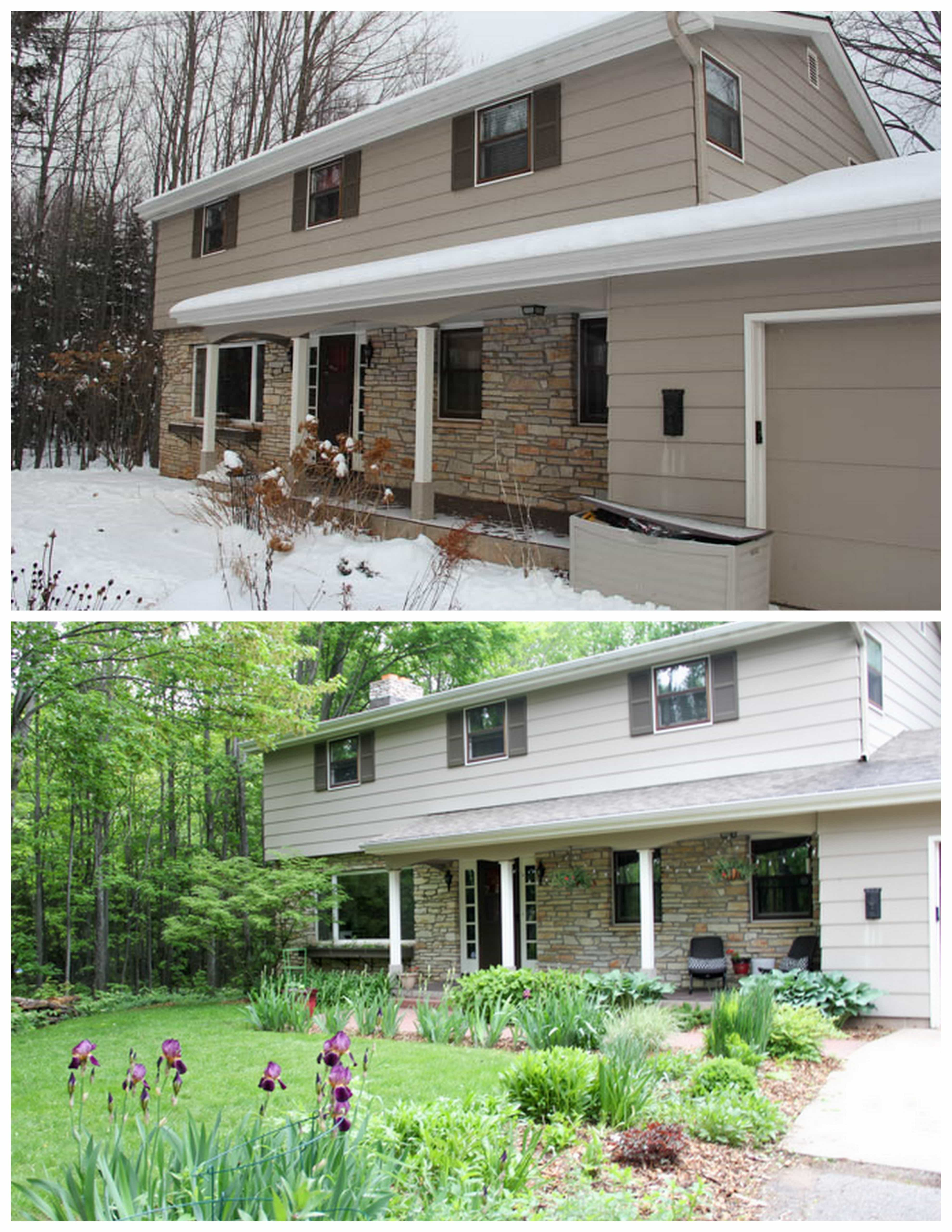 Two Story House Before and After