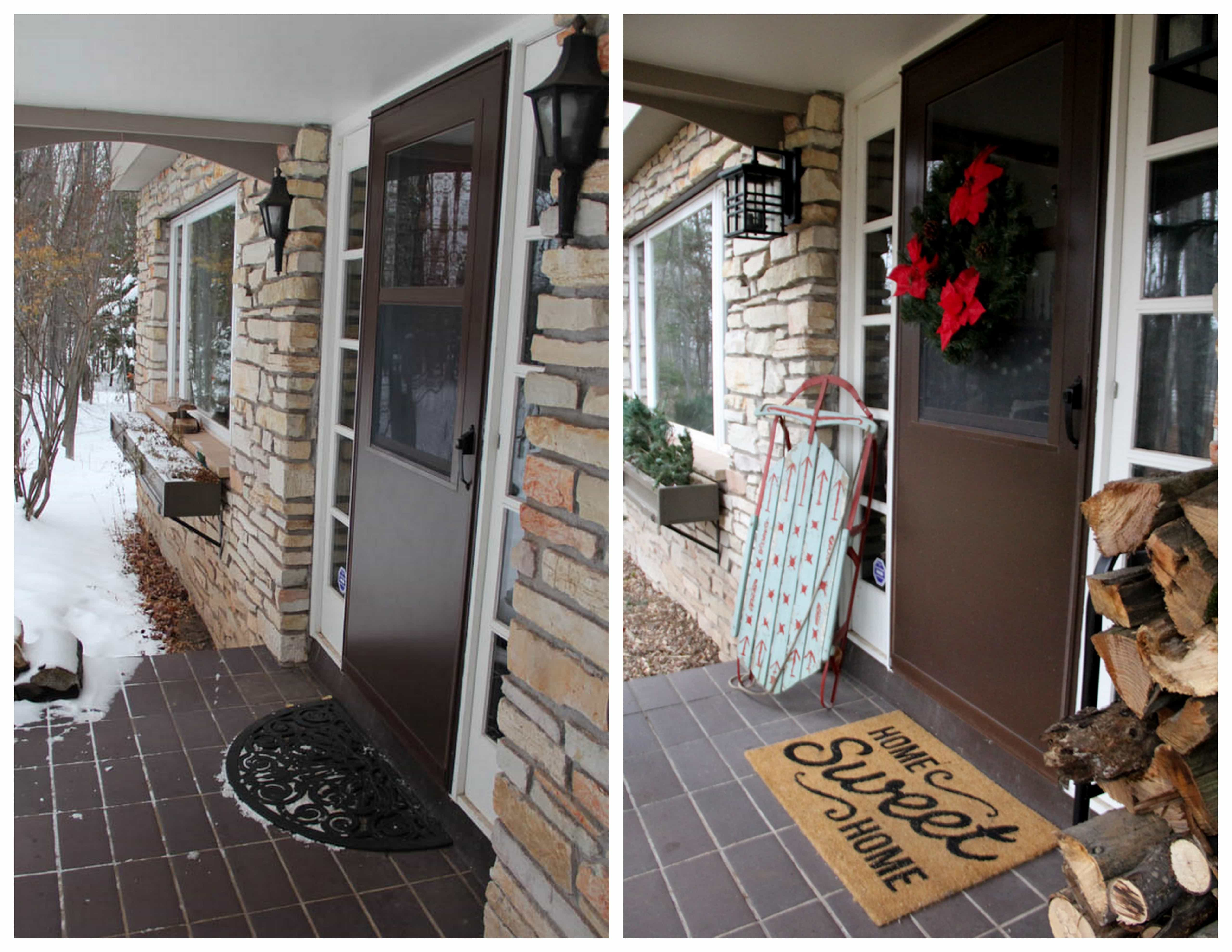 Front Entry Before and After
