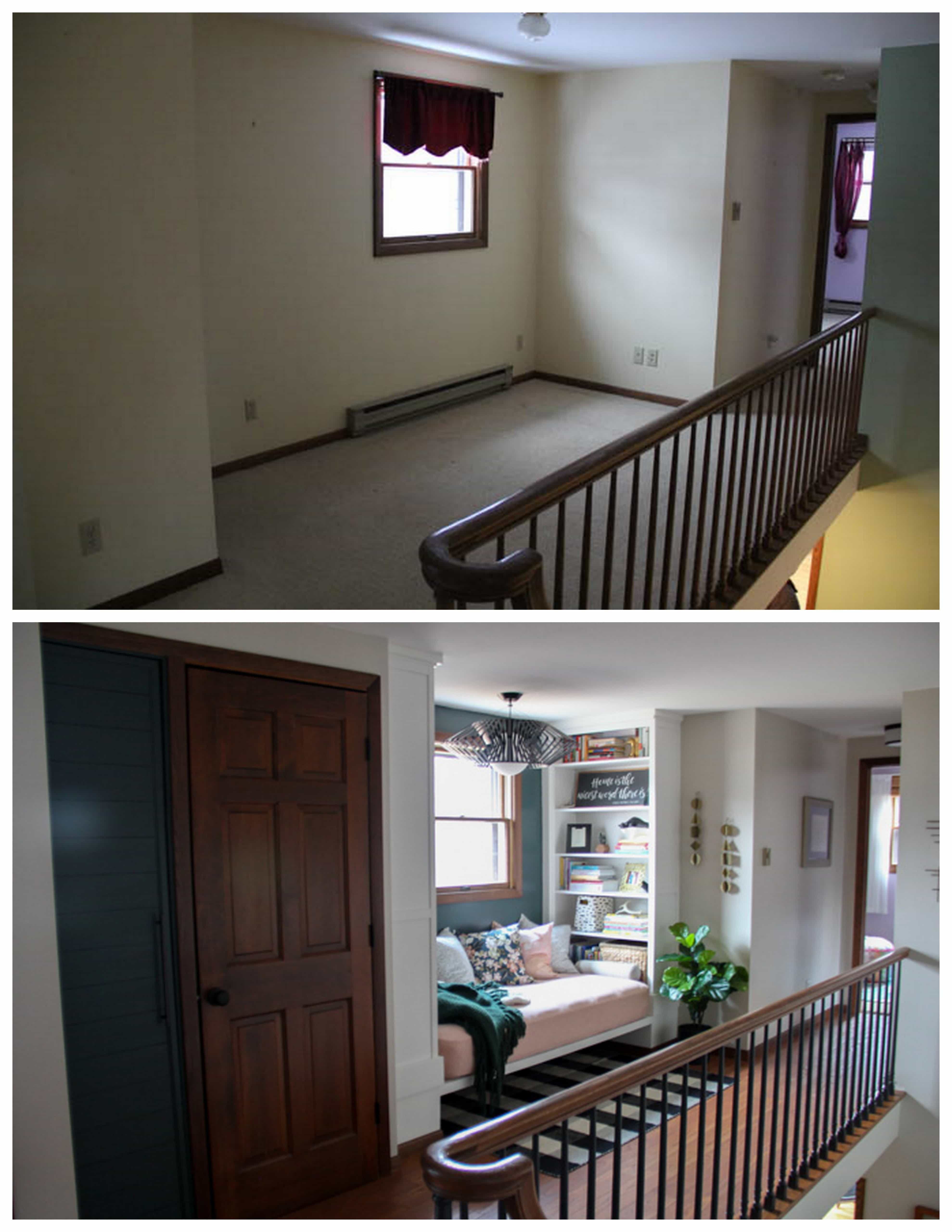 Upstairs Hallway Before and After