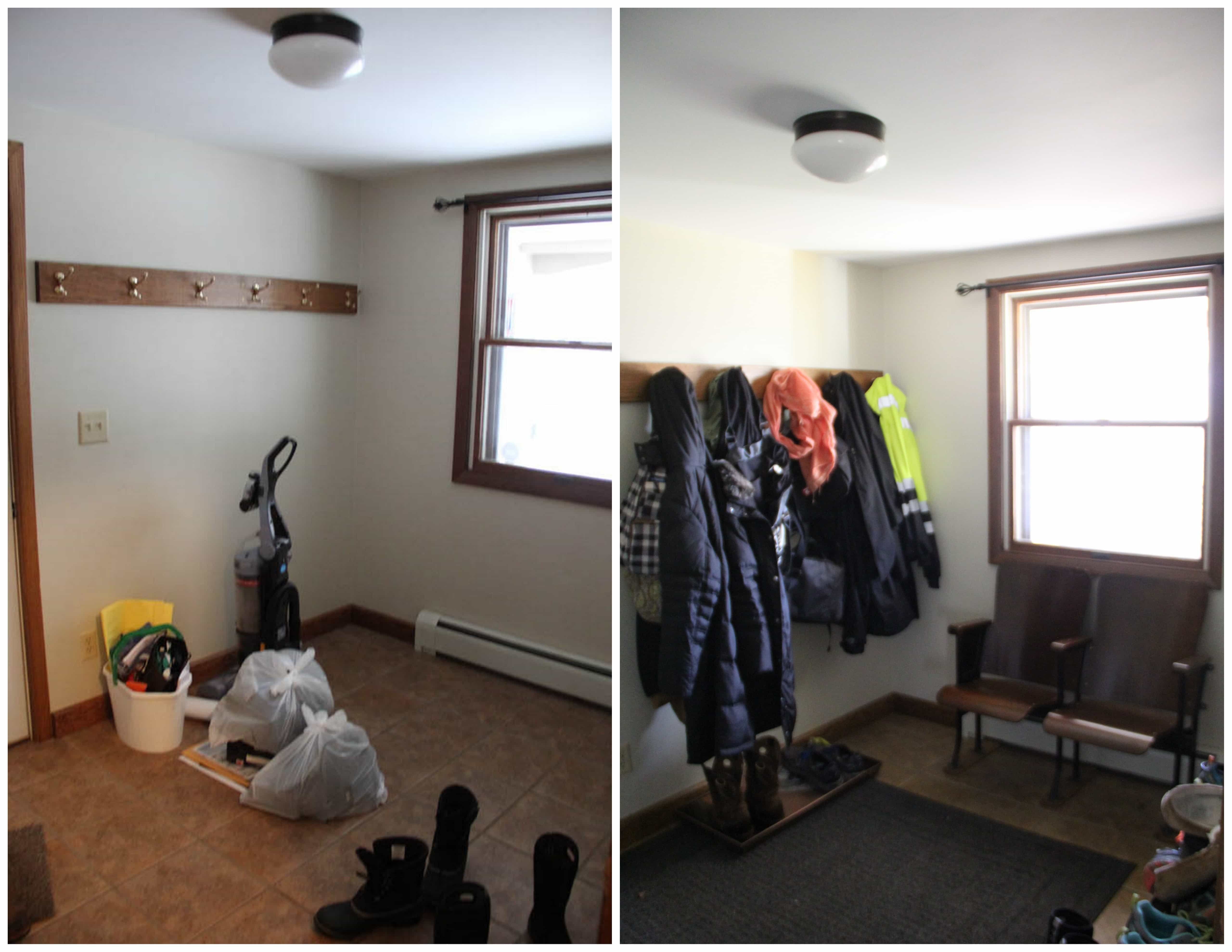 Mudroom Before and After