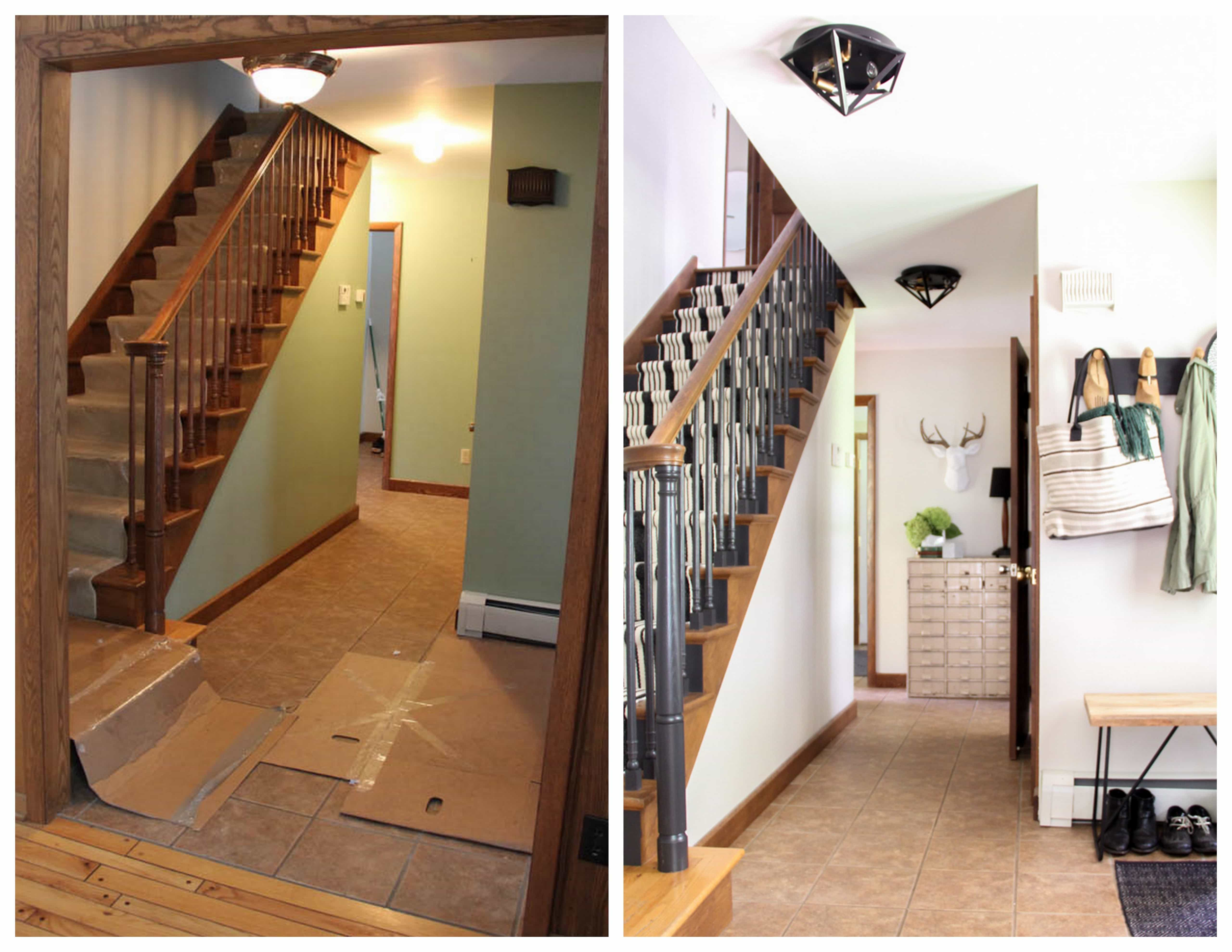 Oak Staircase Before and After