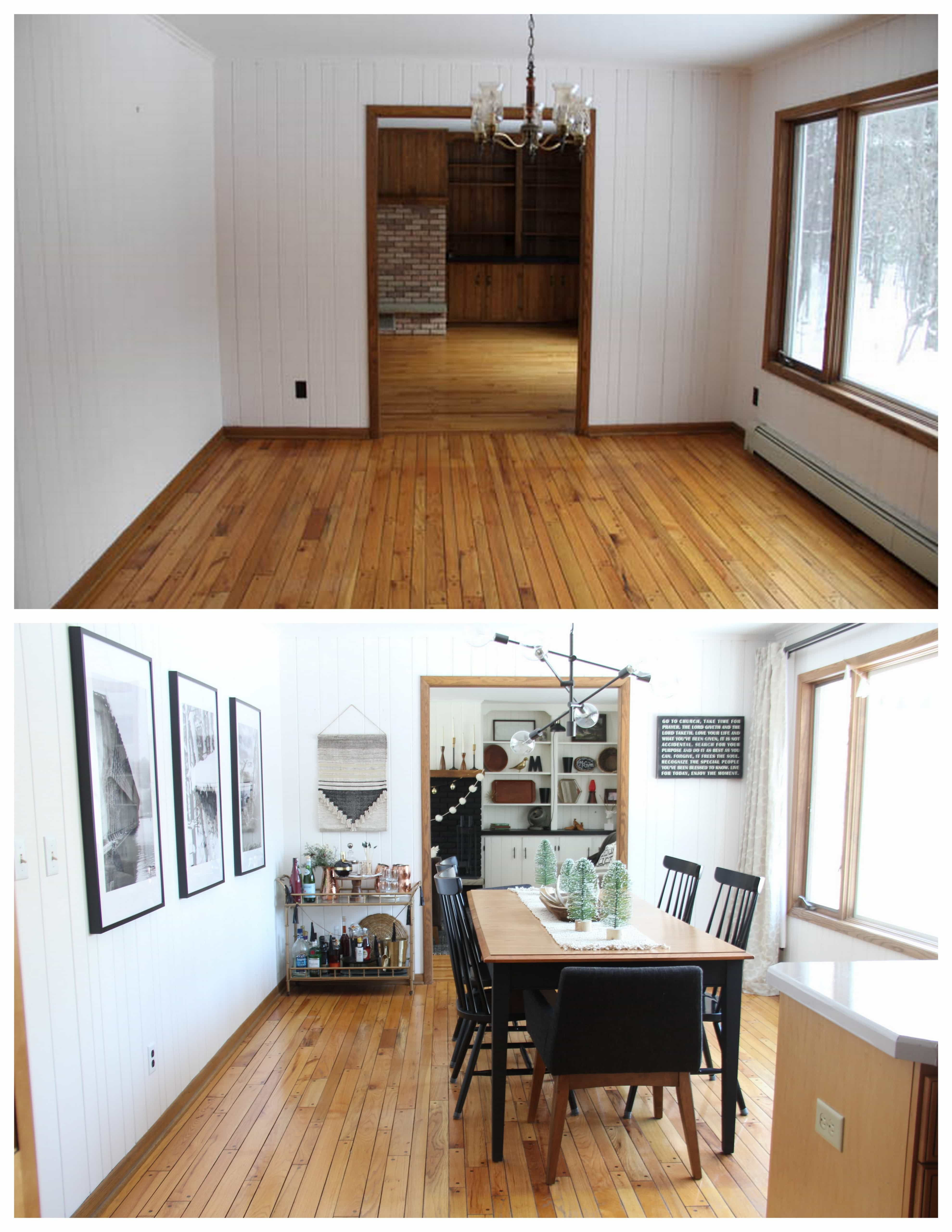 Modern Dining Room Before and After