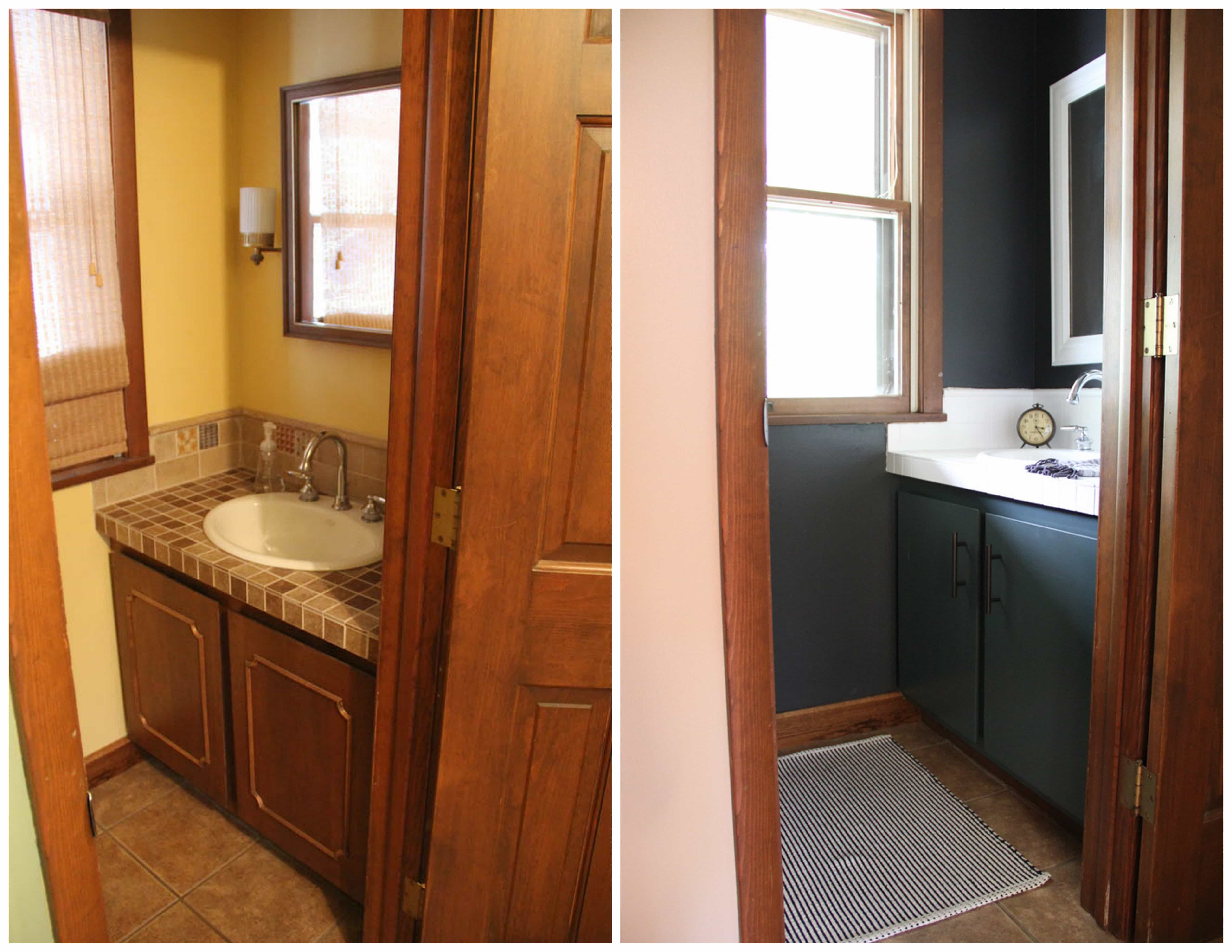 Powder Bathroom Before and After