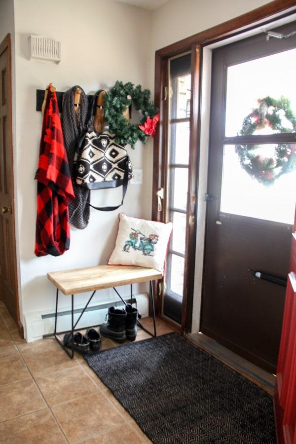 Modern Christmas Entryway