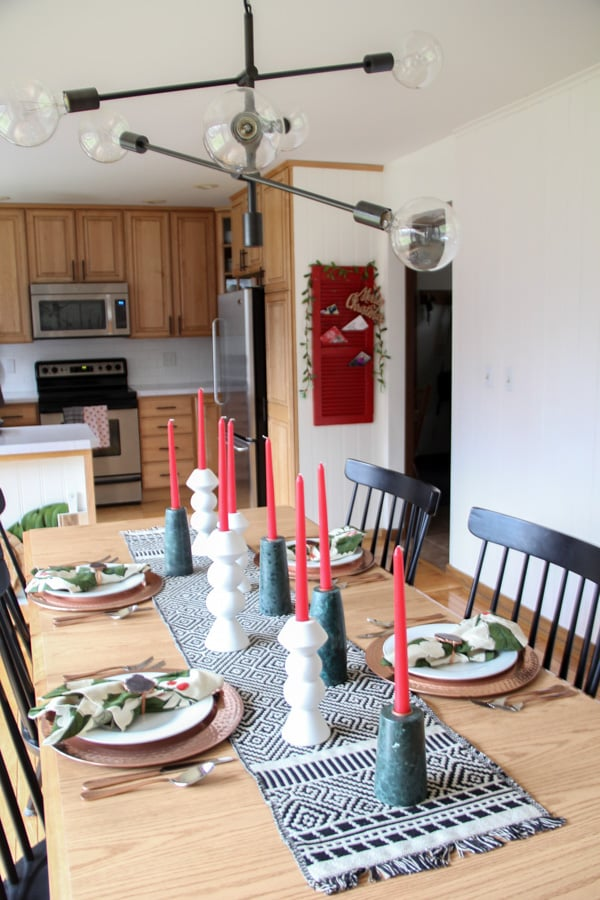 Christmas Modern Tablescape