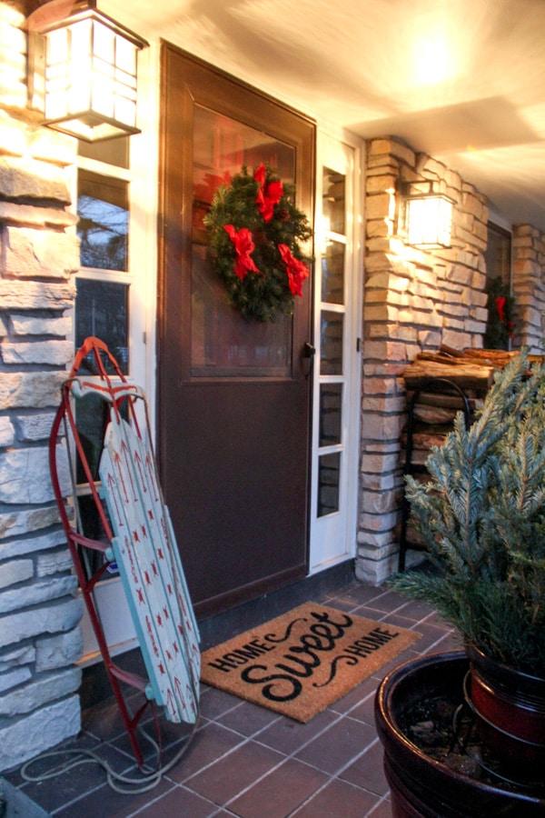 BrightGreenDoor Christmas Front Porch