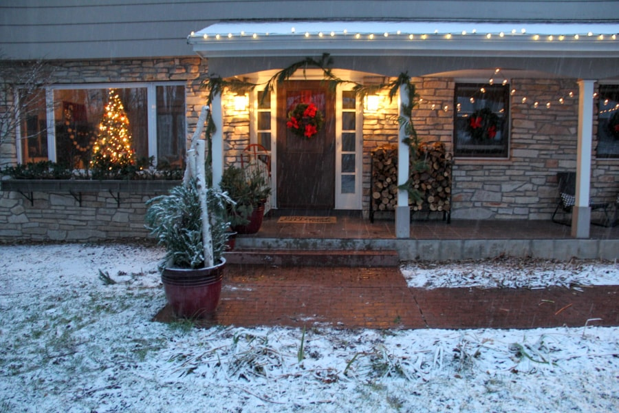 Outdoor Christmas Decorations at Night