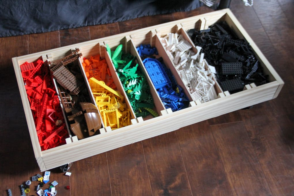 DIY Sorted Lego Storage