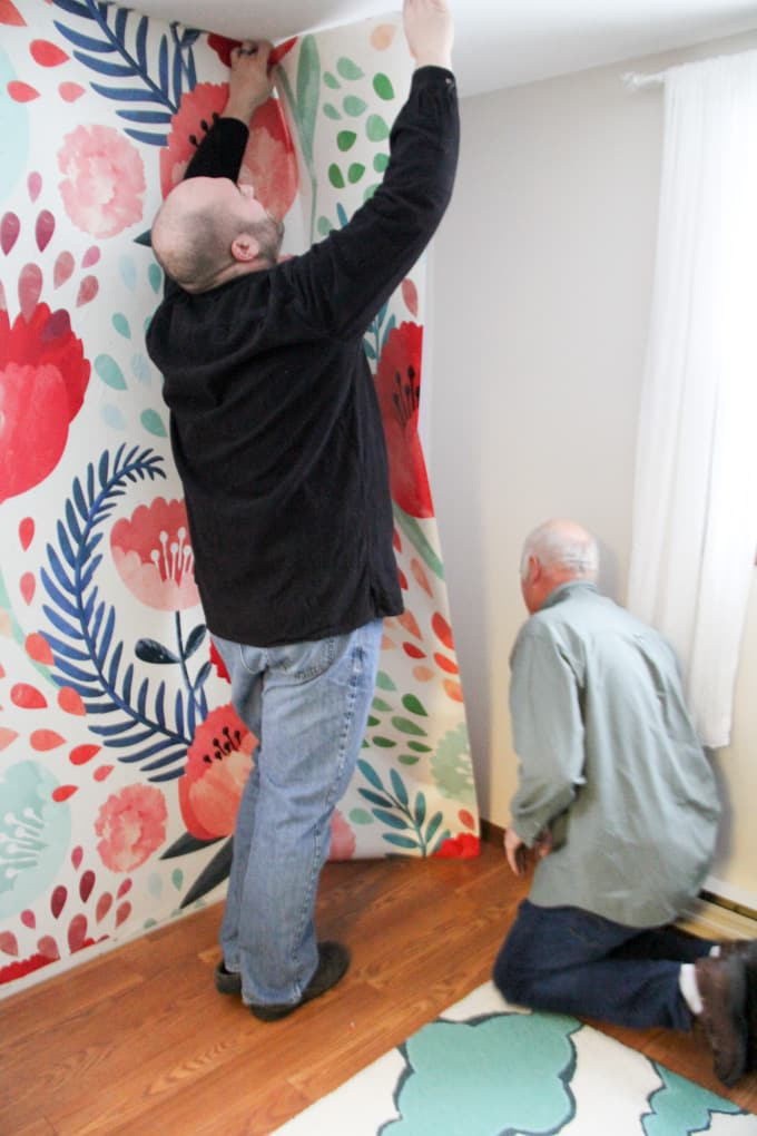 Installing A New Wall Mural