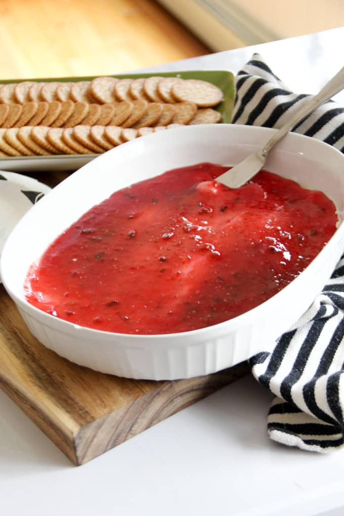 Red Pepper Jelly and Cream Cheese Dip
