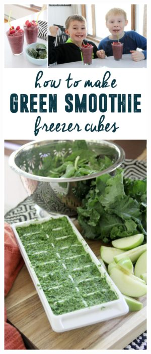 How to Make Green Smoothie Freezer Cubes