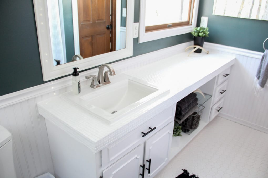 Painted Bathroom Countertops
