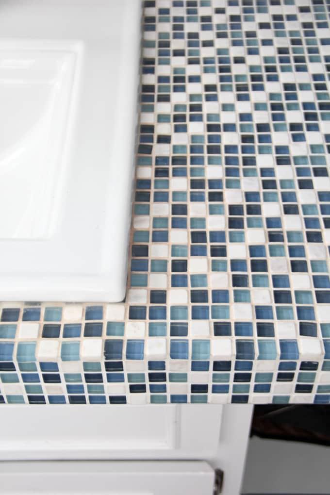 Painted Bathroom Tile