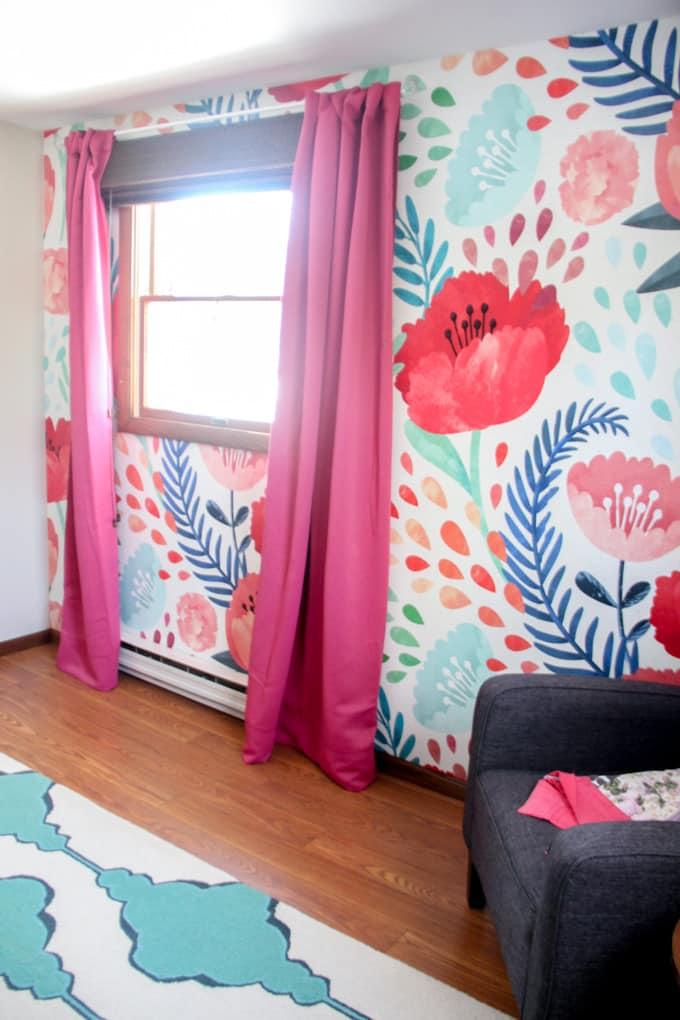 Wallpaper in Girls Bedroom