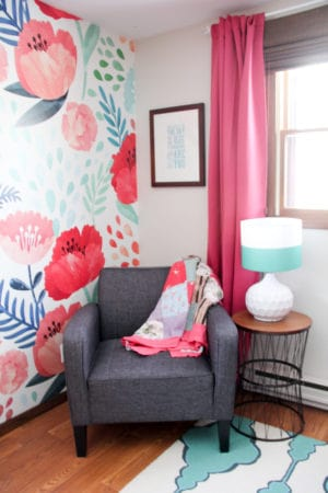 Modern Floral Little Girl Bedroom Reveal