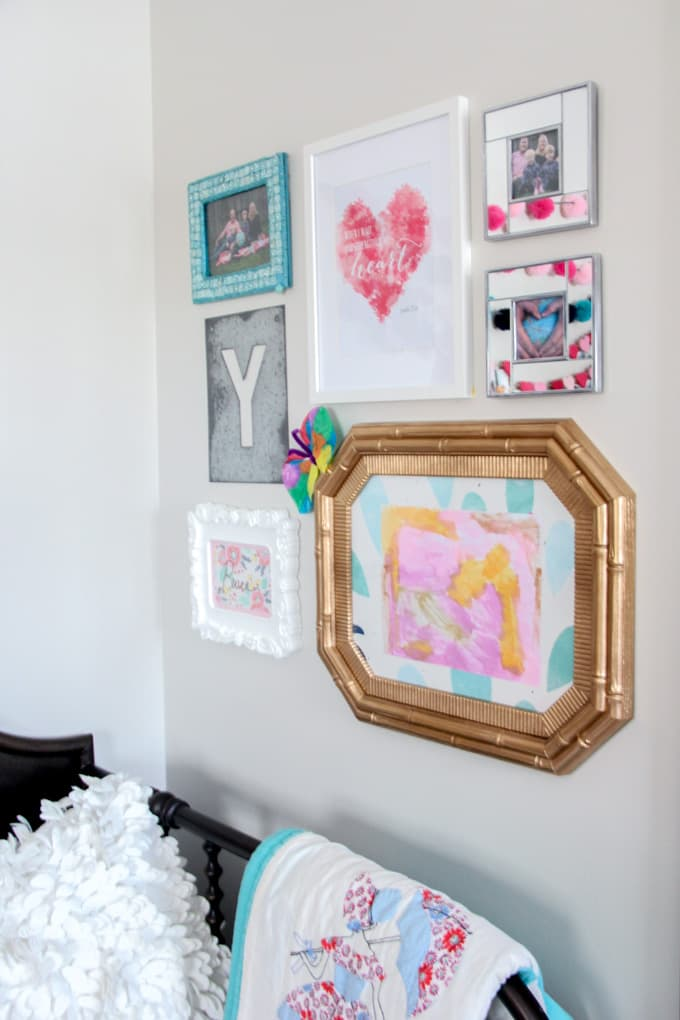 Girl's Bedroom Gallery Wall