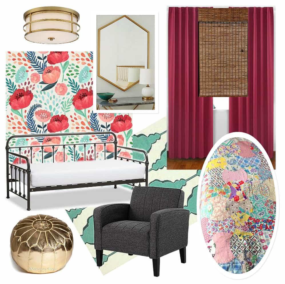Girl Room Bedroom Moodboard
