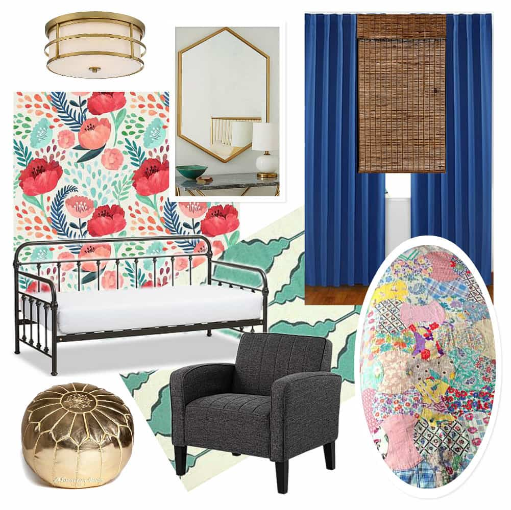 Modern Girl Room Mood Board