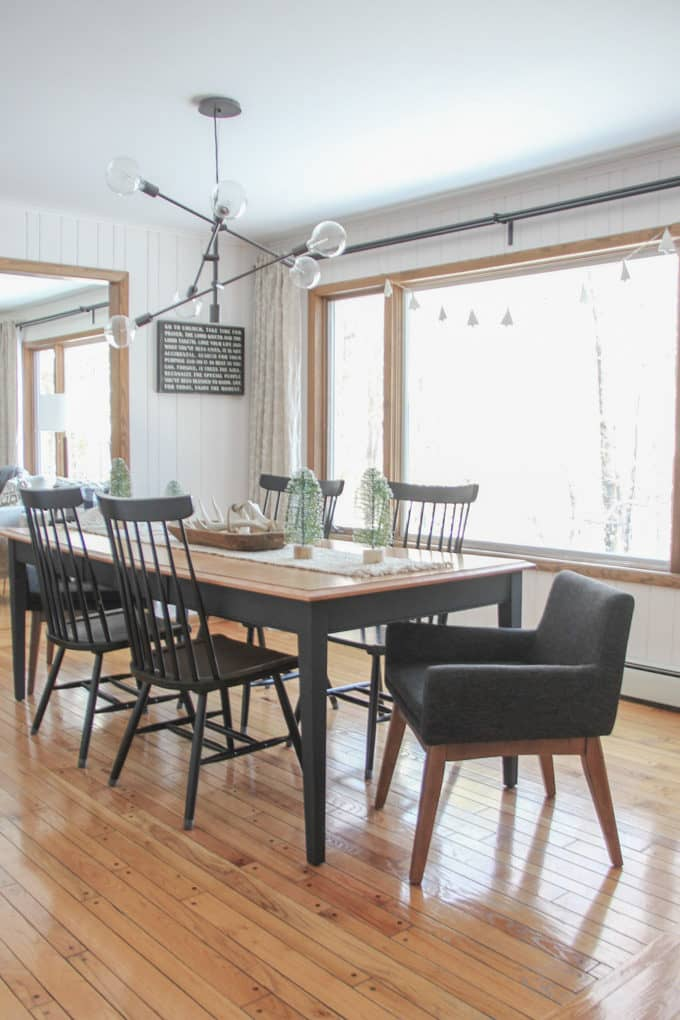 Modern Black and Wood Dining Room