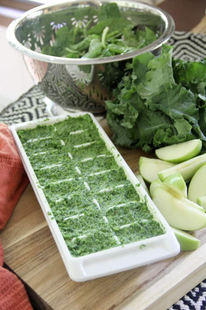 How to Make Green Smothie Cubes