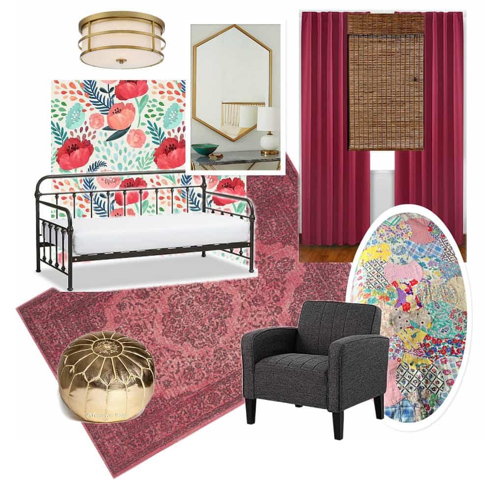 Modern Girl Room with Pink Rug