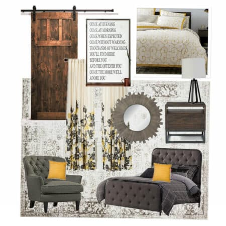 Modern Bedroom Mood Board