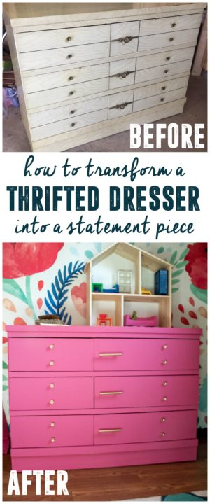 How to Redo a Thrifted Dresser