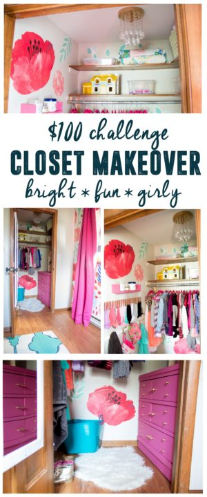 $100 Bright and Fun Girls Closet