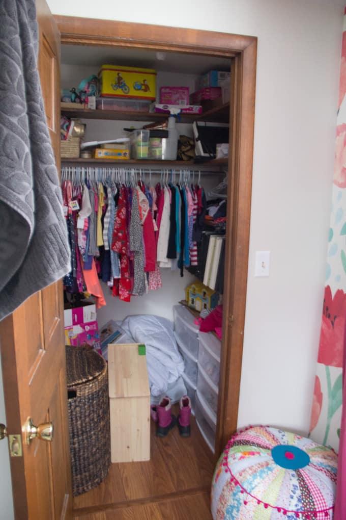 Girl Closet Makeover